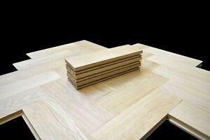 Solid Oak Parquet Wood Block Flooring - Unfinished Prime Grade - 20 x 70 x 254mm