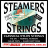Steamers Classical Guitar Strings, Tie On, Clear & Silver USA Made, FREE POSTAGE