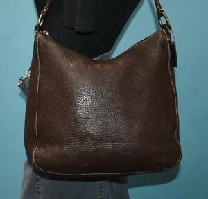 COACH Brown Chelsea Pebbled Leather Hobo Carryall Shoulder Purse Bag 10891