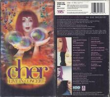 VHS: CHER LIVE IN CONCERT....HOLOGRAM STYLE COVER