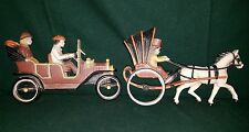 ROADSTER VINTAGE CAR HORSE CARRIAGE~People 1920s Wall Hanging~Vintage HOMCO USA
