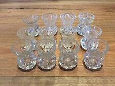 Vintage Cut Glass Thistle Vases Bud Vase x 12 Party Decor🍃