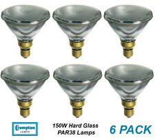 6 x 150W PAR38 Reflector Floodlight Light Globes Bulbs Lamps ES Hard Glass CLEAR