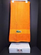 "Lacoste Crocodile Orange Bath Beach Towel 30 x 52"" Cotton"