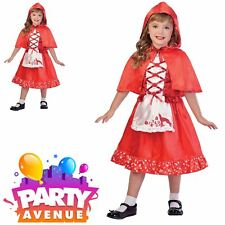 Le ragazze Little Red Riding Hood Costume Libro Settimana Fairytale Costume 3 Taglie 3-9