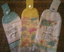 Crochet Top Misc. Hanging Kitchen Dish Towels (3)