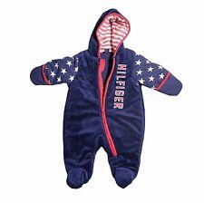 Tommy Hilfiger Blue Baby Pram Winter Cold Super Soft 3-6 Months USA Flag NWT