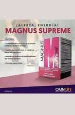 Magnus Supreme  omnilife  energy drink mas energia caja / 30 sobres.