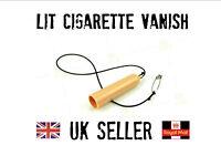 lit cigarette vanish trick close up street magic pull gimmick. disappear