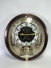SEIKO 30 Melodies in Motion Animated Musical Wall Clock Swarovski Crystals