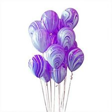 "10Pcs 10"" Colorful Agate Latex Balloons Party Decoration Tie-Dye Baby Birthday"