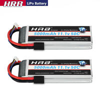 2pcs HRB 5000mAh 11.1V 3S LiPo Battery 50C Traxxas for RC Car Truck Buggy Boat