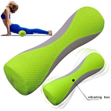 YOGA ROLLER ELECTRIC VIBRATING MASSAGER MUSCLE RELIEF PILATES FITNESS PU FOAM