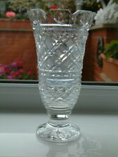 "Waterford Cut Crystal 7"" Vase Signed"