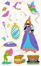 Mrs. Grossman's Giant Stickers - Princess - Unicorn, Fairy, Frog - 2 Strips