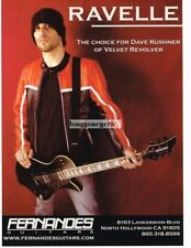 2003 FERNANDES Ravelle Electric Guitar DAVE KUSHNER Velvet Revolver Vintage Ad