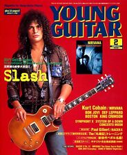 Slash Guns N Roses Nirvana Kurt Cobain Young Guitar February 2003 Mint Import