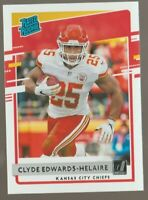 Clyde Edwards Helaire 2020 Donruss Rated Rookie #321 Chiefs SP