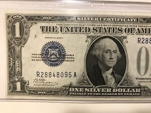 1928 A $1 SILVER CERTIFICATE FUNNYBACK-Graded CHOICE UNCIRCULATED 64