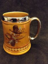 Staffordshire Lord Nelson Beer Stein with Wild Turkey Scenery made in England