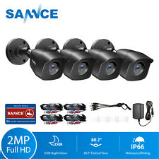 SANNCE 4pcs Outdoor CCTV Bullet Camera IR Cut Night Vision for Home Security Kit