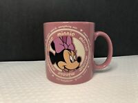 Minnie Mouse Pink Coffee Mug Cup Disney Parks Sugar and Spice Everything Nice