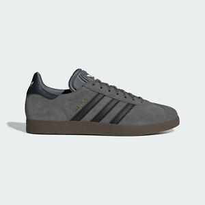 adidas Originals Gazelle Mens Shoes   Grey Four / Core Black / Gum EE8943