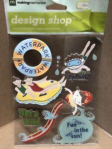 Making Memories-Dimensionals -Water Park Sticker Set-34873
