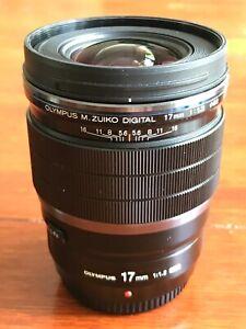 Olympus M. Zuiko ED 17mm f/1.2 PRO Lens + UV Filter