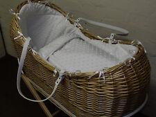 wicker pod snug Noah dimple moses basket dressing set