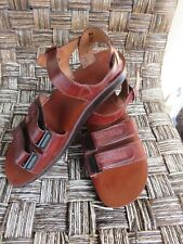 Camel Jesus Sandals Brown Genuine Leather Greek Roman Size 44 For Men