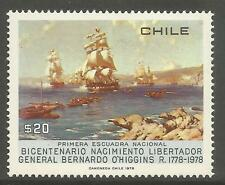 Mint Never Hinged/MNH Single Chilean Stamps