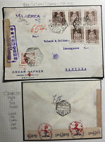1943 Sevilla Spain Censored Airmail Cover To Basel Switzerland