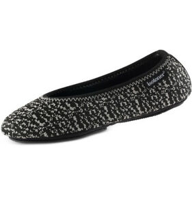 MSRP $32 Isotoner Signature Women's Knit Ballerina Slippers Size SM (5-6)