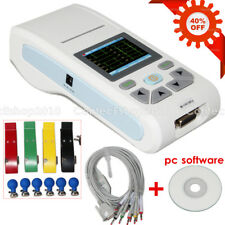 Portable Handheld Touch ECG Machine 1channel 12 lead EKG Electrocardiogram PC SW