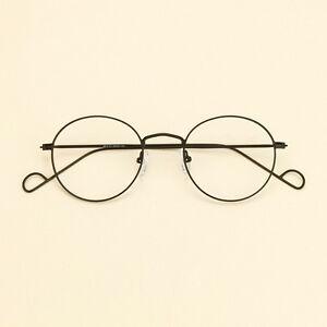 Light Vintage Man Round Glasses Eyeglasses Frames Metal Spectacle Eyewear Unisex