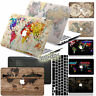 The World Map Painted Rubberized Hard Case Cover For Macbook Pro Air 11 12 13 15