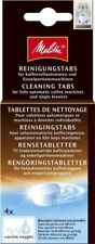 Melitta Cleaning Tablets for Capsule Based or Filter Coffee Machines 4 X 1 8 G