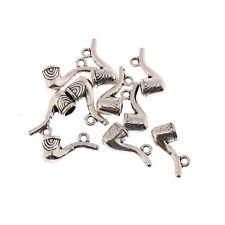 3D PIPE Smoking Dad Tibetan Silver beads Charm alloy Pendants fit bracelet 8pcs