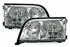 clear chrome halogen headlights set for MERCEDES S-CLASS W140 with fog light