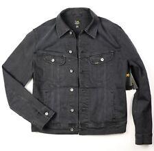 New Lee Men's Denim Jacket Trucker Riders Black Color Sizes S, M, L, XL, XXL