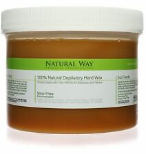 100% Natural Hard Wax Strip Free! by Natural Way 24oz/680g Depilatory Original