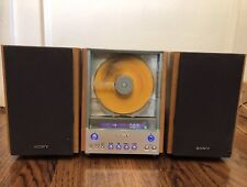 SONY CMT-EX1 AM-FM/ CD PLAYER HI-FI STEREO BOOKSHELF MICRO SYSTEM WORKS GREAT!