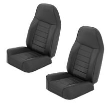 Smittybilt Front PAIR Bucket Seat Black 76-17 Jeep Wrangler Package Deal!