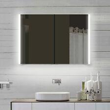 LED Bad Badezimmer Spiegelschrank mit ALU Rahmen & Steckdose 100x70cm LLC100X70