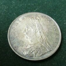 1887 PROOF VICTORIA DOUBLE FLORIN JUBILEE BUST Spink 3923 VERY SCARCE COIN