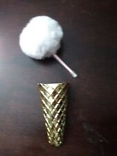 Magnetic Pen Cup with PomPom Pen Gold - Locker Style or anything metal