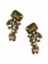Banana Republic Bronze Peacock Cluster Earrings NWT $79.50