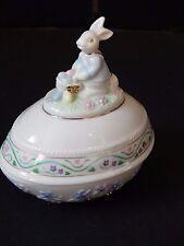 Lenox 2002 Springtime Bunny Easter Egg Limited Edition ~ Trinket Box