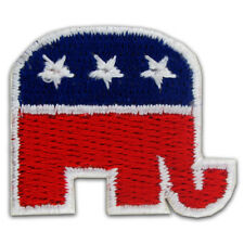 Republican Elephant American Flag Embroidered Applique Sticker
